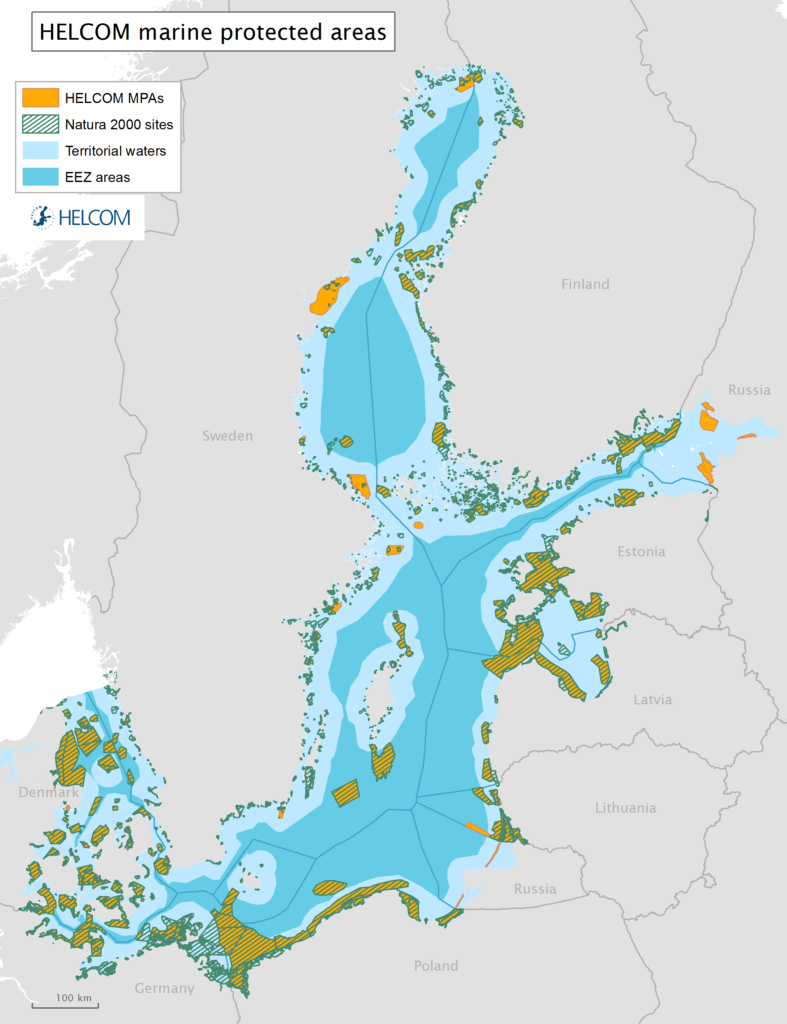 Figure 7.3. Marine protected areas in the Baltic Sea.