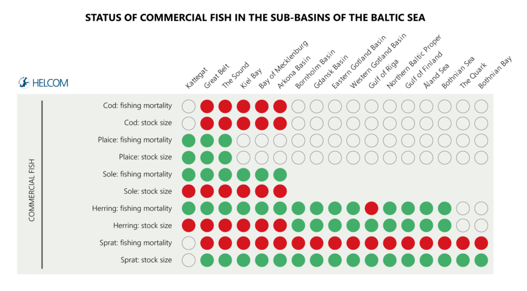 Figure ES4. Status of commercial fish