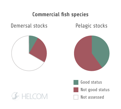 HELCOM HOLASII Fig 5.3.4 Results For Internationally Assessed Commercial Species