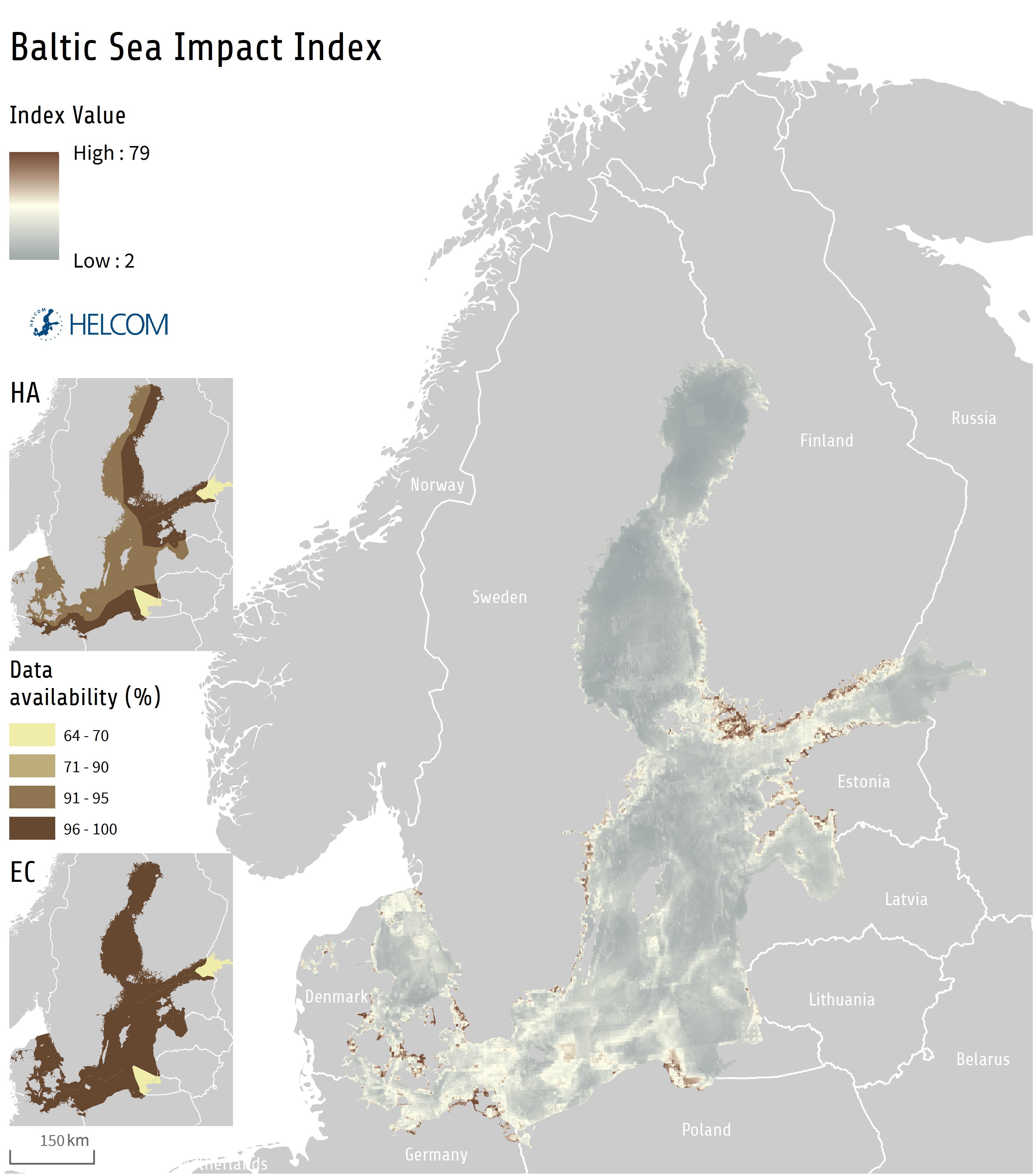 HELCOM HOLASII Fig 6.2 The Baltic Sea Impact Index
