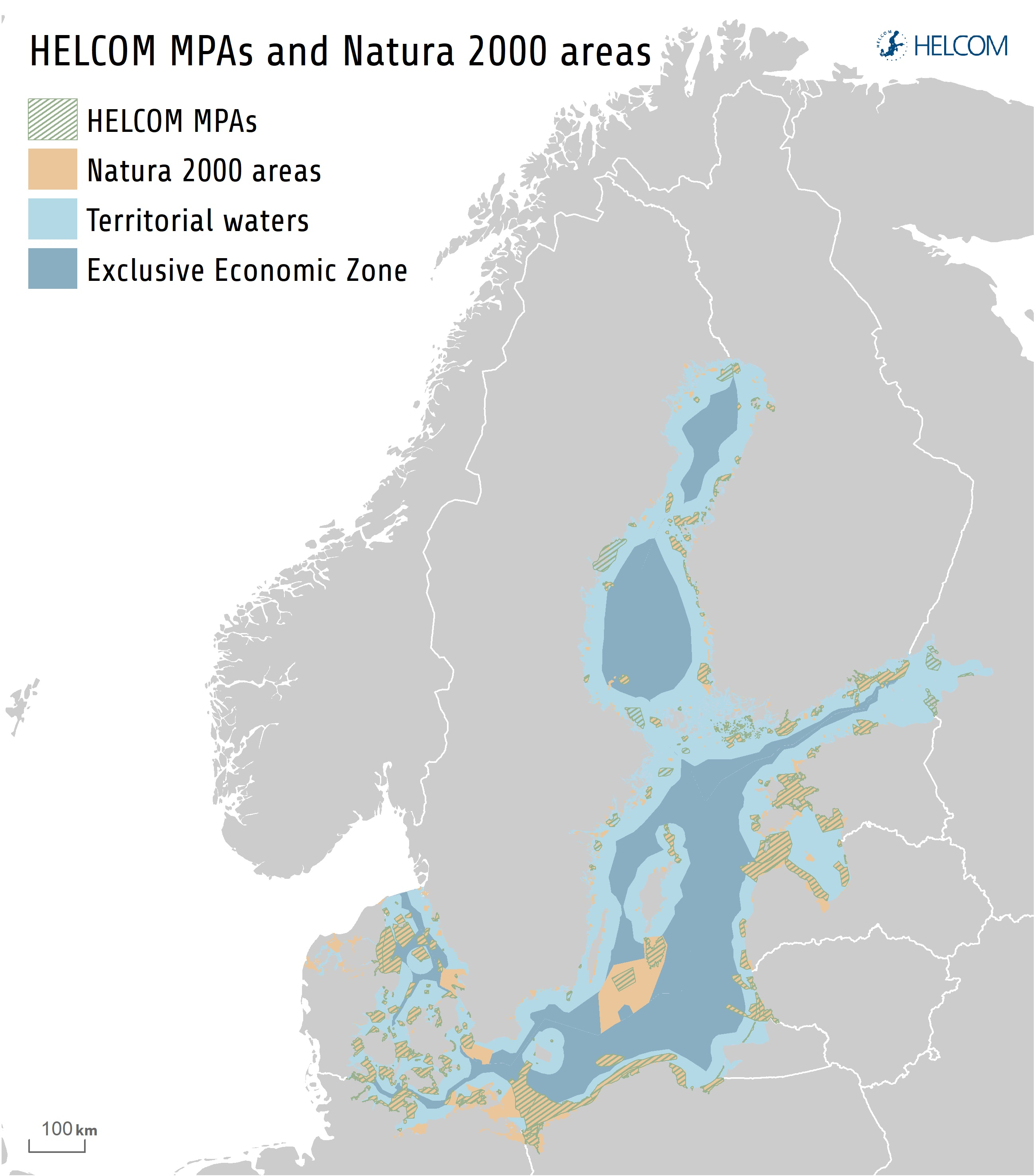 Figure 7.4. Marine Protected Areas In The Baltic Sea. The Baltic Sea Reached The Target Of Conserving At Least 10 % Of Coastal And Marine Areas, Set By The United Nations Convention On Biological Diversity. Today The Area Protected By These Marine Protected Areas (MPAs) Has Reached 12 %.